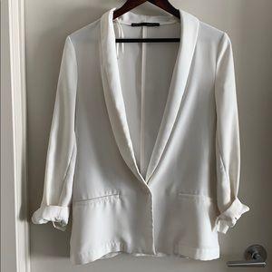 Zara Oversized White blazer